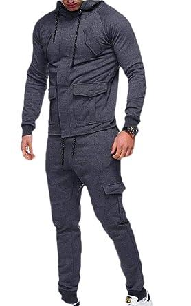 SOWTKSL - Conjunto de 2 Pantalones de chándal para Hombre Gris ...