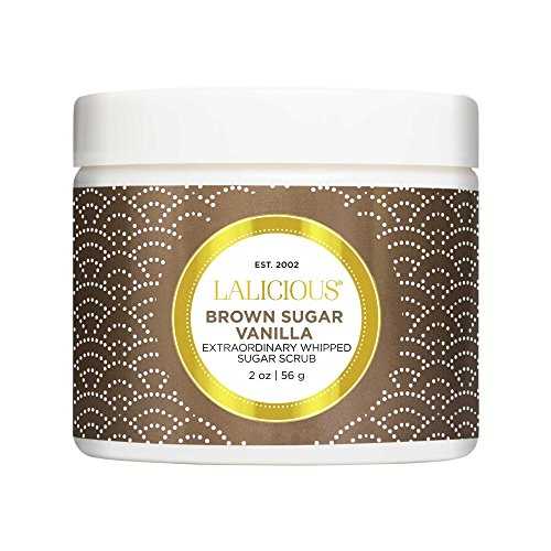 LALICIOUS - Brown Sugar Vanilla Extraordinary Whipped Sugar Scrub - 2 Ounces (Brown Sugar Coconut Oil Scrub)