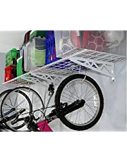 "SafeRacks Wall Shelf Combo Kit, Two 18""x48"" Shelves, Four Deck Hooks"