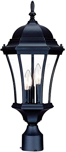 Acclaim 5027BK Brynmawr Collection 3-Light Post Mount Outdoor Light Fixture, Matte Black