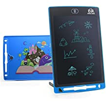 LCD Writing Tablet Writing pad writing doodle pad 8.5inch Kids Drawing Board Doodle Pad Writing Board Kids tablet Kids pad Kids doodle pad eWriter Fridge Magnet Notepad Gift(Blue)