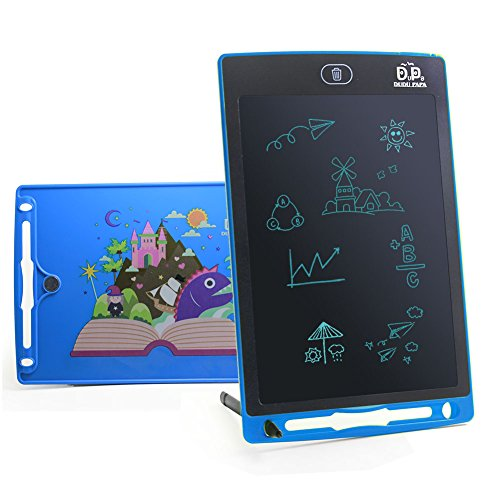 LCD Writing Tablet Writing pad writing board writing tablet for Kids Drawing Board Doodle Pad 8.5inch Kids tablet Kids pad Kids doodle pad eWriter Fridge Magnet Notepad Children's day Gift(Blue)