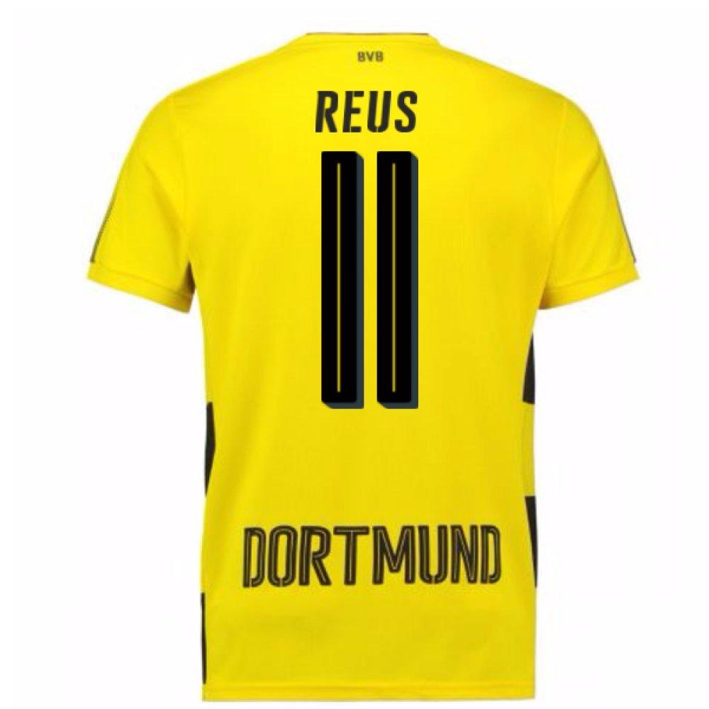2017-18 Borussia Dortmund Home Short Sleeve Shirt (Reus 11) B077YSQ48ZYellow Small Adults