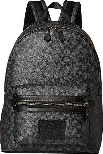 COACH Men's Academy Backpack in Signature Coated Canvas Grey One Size