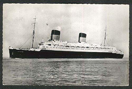 Compagnie Générale Transatlantique ocean liner SS Liberté RPPC postcard 1959 -