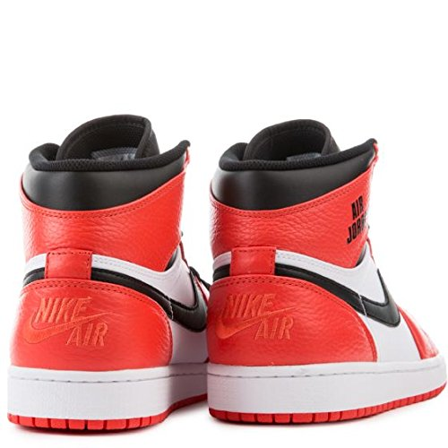 Nike Mens Air Jordan 1 Retro Alta, Max Orange / Nero, 15