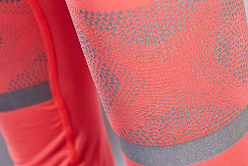 Craft Sportswear Women's Brilliant 2.0 High Visibility Reflective Running and Training Fitness Workout Light Tights, Shock, Large by Craft Sportswear (Image #5)