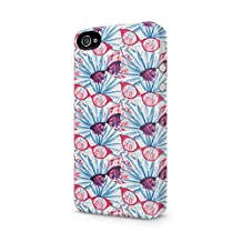 Tropical Pineapples Pink Glasses Pattern Apple iPhone 4, iPhone 4s Plastic Phone Protective Case Cover