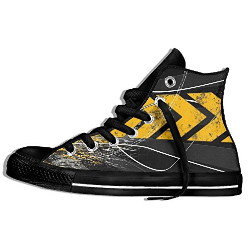 Platform Acceleration (High Tops Sneakers Classic Canvas Shoes Acceleration Yellow Mark Lace Up Unisex)