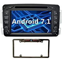 YINUO 7 inch Android 7.1.1 Nougat Quad Core Car Stereo HD Touch Screen Car Radio Receiver DVD GPS Navigation for Mercedes-Benz support Bluetooth Wifi