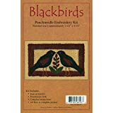 Rachel's Of Greenfield Blackbirds Punch Needle Kit, 2-1/2 by 4-1/2-Inch