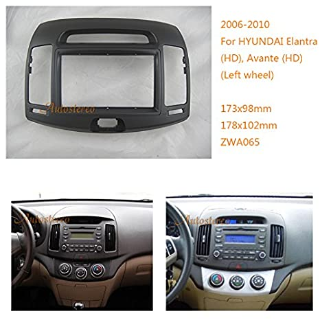 autostereo 11 - 065 - Embellecedor para radio de coche Hyundai Elantra Avante HD 2006 - 2010 Izquierda Rueda Marco de Instalación de radio de coche: ...