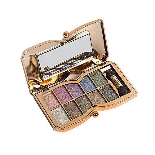 Eye Shadow Palette Cosmetic Set, TRENDINAO 10 Colors Shimmer Eyeshadow Eye Shadow Palette Makeup Cosmetic Set - Chenille Glue Top