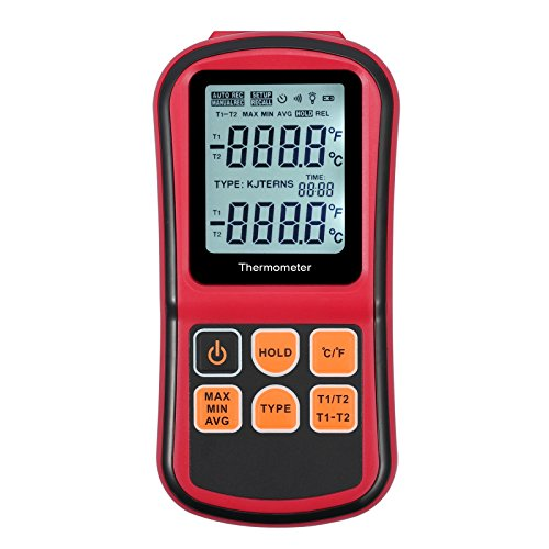 Proxima Direct Digital Thermometer LCD Dual Channel with Two K- type Thermocouples