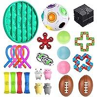 Set of Sensory Fidget Toys 24 Pieces lindra stressdekompressionsleksaker för barn och vuxna för ångestlindring Autism…