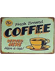 1 letrero de pared con pintura de metal, para decoración de bar, cafetería, herramientas y accesorios de publicidad