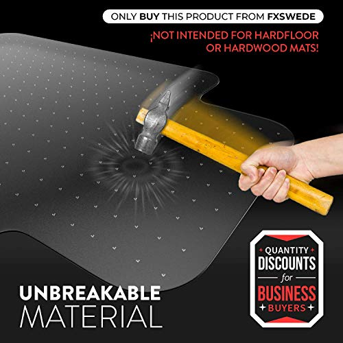 Desk Chair Mat for Carpet - Unbreakable Heavy Duty Polycarbonate Ships Flat Office Chair Mat for Carpet - Chair Mats for Carpeted Floors - Computer Chair Mat for Carpet Floors - Floor Mats for Office by Starcounters (Image #1)