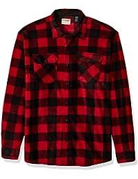 Men's Big & Tall Long Sleeve Plaid Fleece Shirt