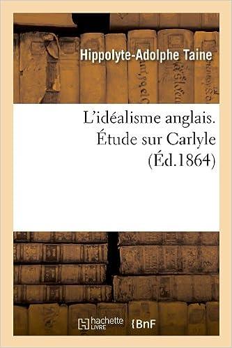 Livre L'idéalisme anglais. Étude sur Carlyle (Éd.1864) epub pdf