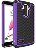 LG G Stylo Case, LK Drop Protection Shock-Absorption Impact Resistant Hybrid Dual Layer Armor Defender Protective Case Cover for LG G Stylo (Purple)