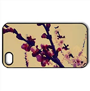 Cherry Buds Watercolor style Cover iPhone 4 and 4S Case (Spring Watercolor style Cover iPhone 4 and 4S Case)