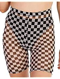 iHeartRaves Pantalones Cortos de Licra de Talle Alto para Mujer