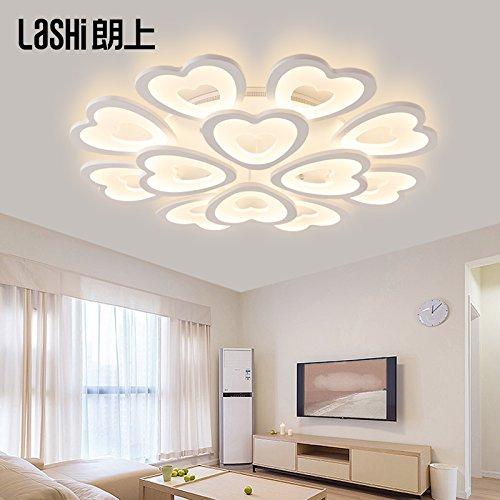 lemumu LED lámpara de techo con forma de corazón de salón ...