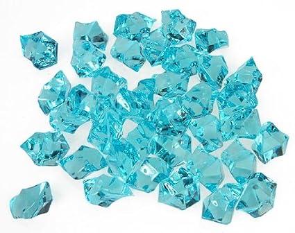 Amazon Translucent Turquoise Acrylic Ice Rocks For Vase Fillers