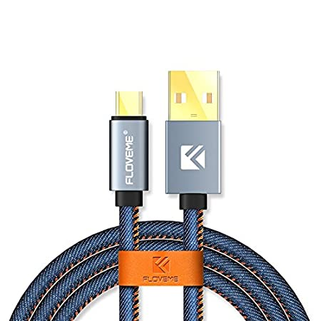 Floveme USB Type C Cable Accessories Cables for Phone.  Blue