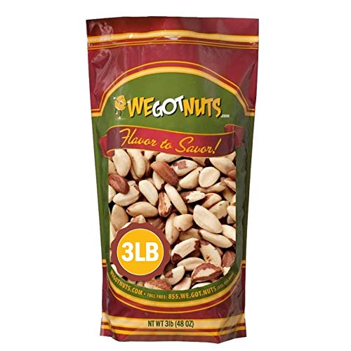 Raw Brazil Nuts- 3 Pounds,(48oz) Superior To Organic - Natural, Whole, Unsalted, Shelled , No Preservatives, Kosher Certified- Natural, Fresh, Healthy Diet Snacks for Kids and Adults-by We Got Nuts 2