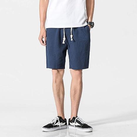 NGRDX&G Bermuda Pantalones Cortos De Lino De Algodón Blanco ...