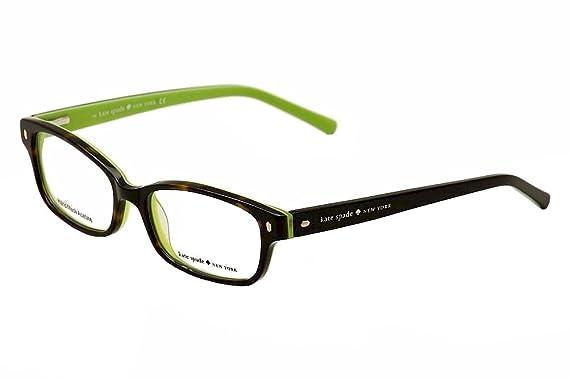 70f1b312b466c9 KATE SPADE Monture lunettes de vue LUCYANN 0DV2 Écailles Vert kiwi 51MM