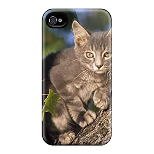 New Iphone 4/4s Case Cover Casing(cat In Tree)