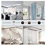 A&F Rod Décor - Caleb Multi-angle Room Divider/Bedroom Canopy/Ceiling Mount Curtain Rod Adjustable 48-84 inch Three Sided - Satin Nickle