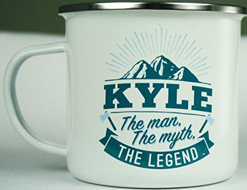 Top Guy Mugs 1208000117 Kyle Coffee Mugs, Large, Multicolor