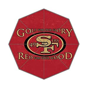 NFL San Francisco 49ers Team Logo Background Triple Folding Umbrella!43.5 inch Wide!Perfect as Gift!