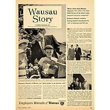 1954 Ad Employers Mutual Insurance Wausau Story Schuck - Original Print Ad