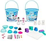 Floof Modeling Clay 2-Pack Bundle with Polar Babies and Mr & Mrs Snowman - Reusable Indoor Snow - Easy to Mold Into Different Shapes - Clean-up Quickly and Easily