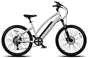 """ProdecoTech Genesis RS V5 Wb 36V600W 8 Speed Electric Bicycle 14Ah Samsung Li Ion, Pearl White, 18""""/One Size"""
