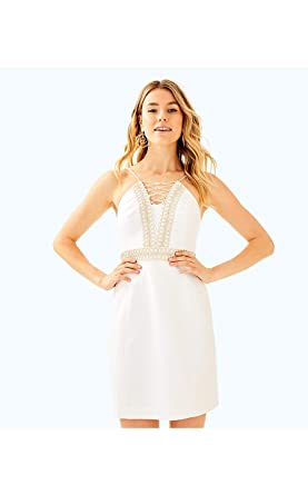 e2b474190b82e9 Image Unavailable. Image not available for. Color: Lilly Pulitzer Resort  White Trista Shift Dress ...