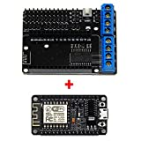 Gowoops NodeMcu Lua ESP8266 ESP-12E CH340G WIFI Serial Development Board and L293D Wifi Motor Drive Expansion Board Shield Module for Arduino