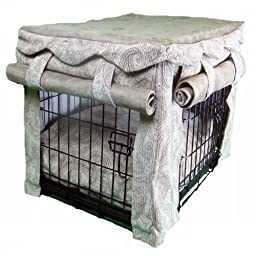 Snoozer Cabana Pet Crate Cover with Pillow Dog Bed, Small, Sicilly Bone/Peat