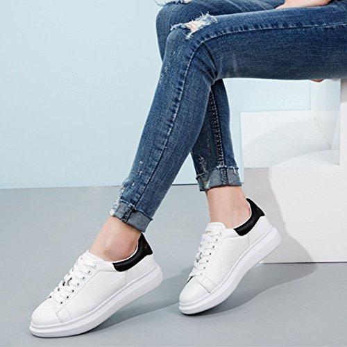 Xia Sneakers Femmes Cravate Lacet Chaussures De Plein Air Plat Printemps Et L'automne Étudiant (taille: Eu39 / Uk6.0 / Cn39)