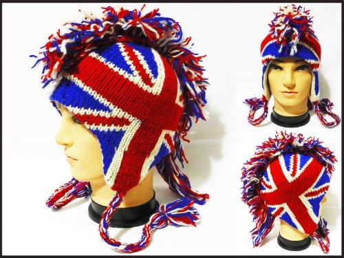Mohawk british beanie handmade Fleece