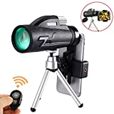 Monocular Telescope, 16x50 High Power BAK4 Prism FMC Lens with Quick Phone Mount Adapter and Tripod, Waterproof, Low Night Vision Focus for Outdoor Bird Watching, Hunting, Camping, Travelling, Hiking