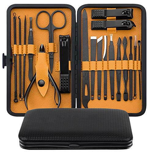 Manicure Set, MH ZONE Pedicure Set Nail Clippers, 19 Pieces Premium Stainless Steel Manicure Kits with Portable