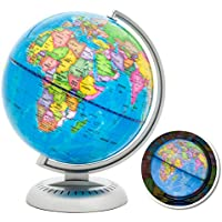 8-In. Illuminated Up World Globe (Multicolor)