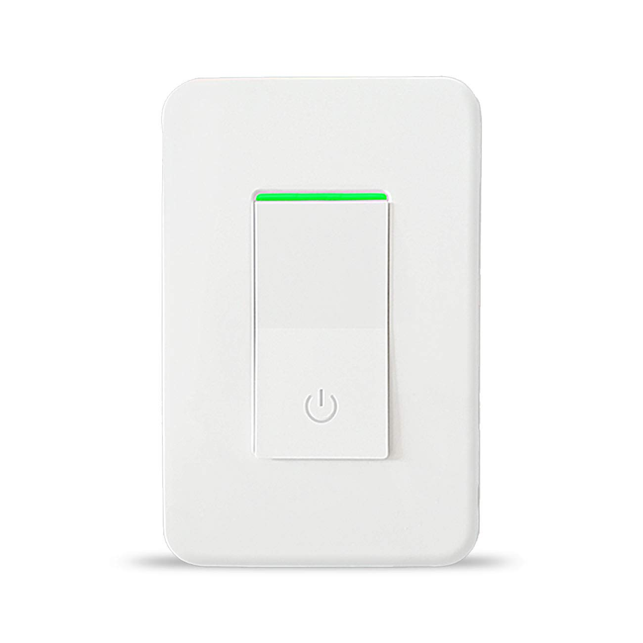 Smart Wi-Fi Light Switch, Wireless Wifi Wall Switch Remote Control, Works with Alexa, Google Home, IFTTT, No Hub Required, Single-Pole Only, Netural Wire Required, Overload Protection 15A, ETL Listed