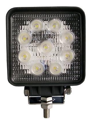 ALPHA DIMA Set di 10 Fari a LED da 27W,per Lavoro e Mezzi di Trasporto,Antinebbia,Bianco Colore