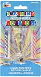 Multicolor Flashing Number 3 Cake Topper & Birthday Candle Set, 5pc